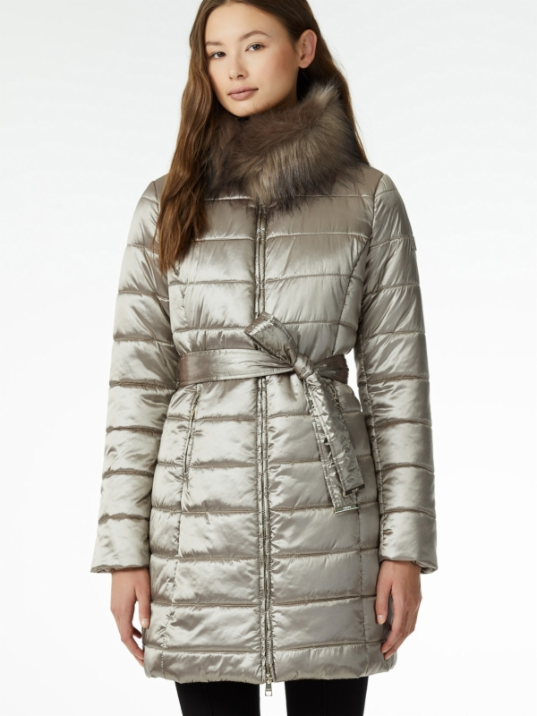 'London Chic'™ full-length quilted down jacket