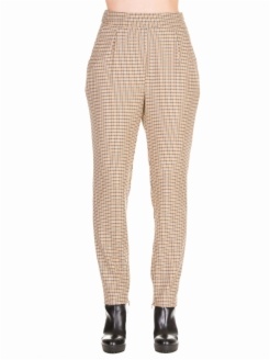 PANTALONE SIGARETTA IN CHECK