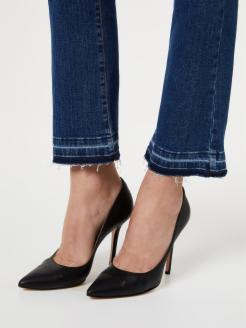 Flared jeans with unfinished hems | Shop online LIU JO