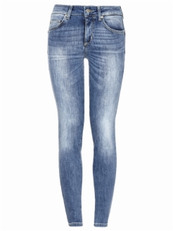 Denim high waist super skinny bottom-up